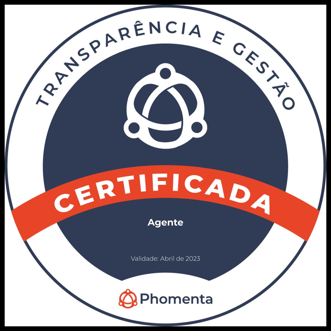 Certificado de transparência e gestão - Phomenta